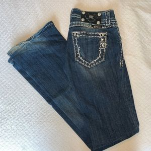 Jeweled pocket denim Miss Me bootcut jeans